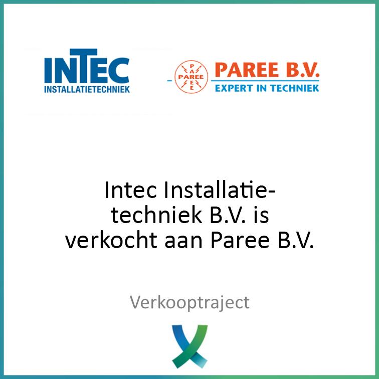 Intec Installatietechniek verkocht van Paree